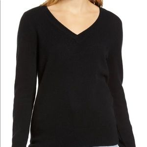 Halogen Cashmere V neck sweater
